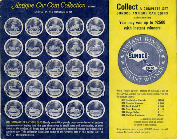 SUNOCO ANTIQUE CAR COIN COLLECTION~SERIES 2~COMPLETE SET OF 25