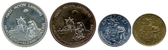 Man in Space SHELL GAS CONTEST 1969  MERCURY VI GLENN USA Aluminium COIN